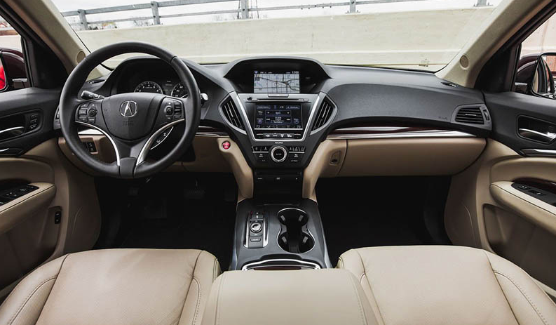 Acura MDX 2016-17 салон